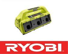 RYOBI ONE PLUS 18V VOLT DUAL CHEM 6 PORT SUPER CHARGER BATTERY CHARGER P135