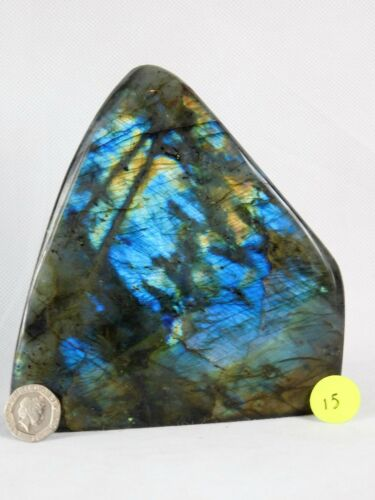 15 Large Polished labradorite iridescent Mineral Crystal Madagascar 1.26 KG