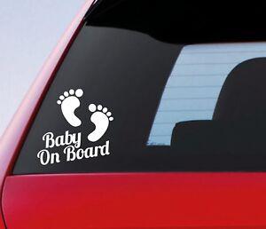 Baby on Board Funny Car Child Children Window Bumper Sticker Vinyl Decal X 2
