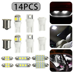 14X-White-LED-Car-Dome-Map-License-Plate-Light-Bulb-Interior-LED-Lamp-Kit-2