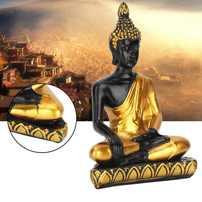 Serene Meditating Thai Buddha White with Gold Robes ~ Peace and Tranquility