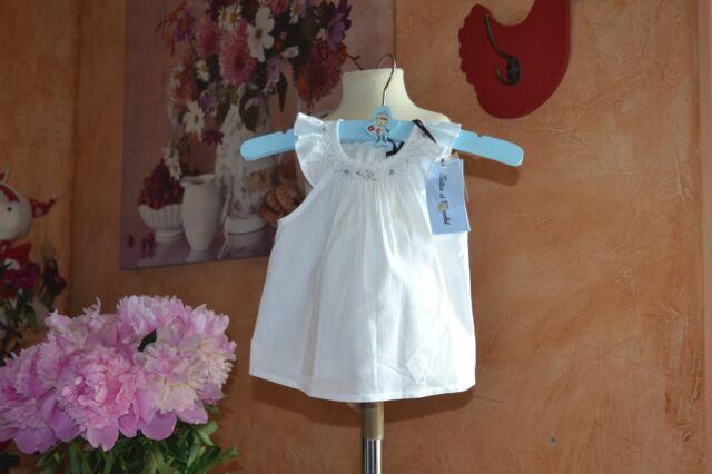 blouse neuve tartine et chocolat 3 mois blanche petites fleurs en haut