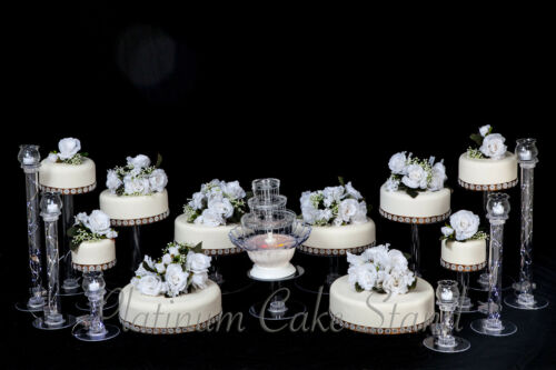 Tier Wedding Cake Stand With Fountain And Candle Votive Set