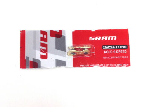 SRAM BICYCLE CHAIN POWER LINK CONNECTING 9 SPEED GOLD