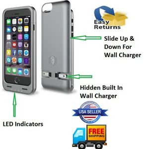 check out d96c2 22cde Details about MFI Apple Certified Squirl for iPhone 6 6S Battery Case -  Built-In Charger