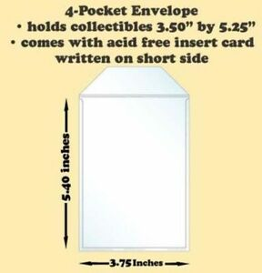 Best-Hobby-Pages-4-Pocket-Polypropylene-Archival-Envelope-Short-Side-Card-50-Pac