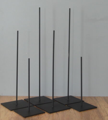 "METAL ROD DISPLAY STANDS FOR AFRICAN ART /& OTHER OBJECTS 11/"" /& 14/"" SET OF 2"