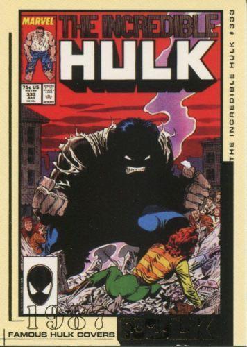 HULK FILM /& COMIC CARDS FAMOUS HULK COVERS         FC01 TO FC45    CHOOSE