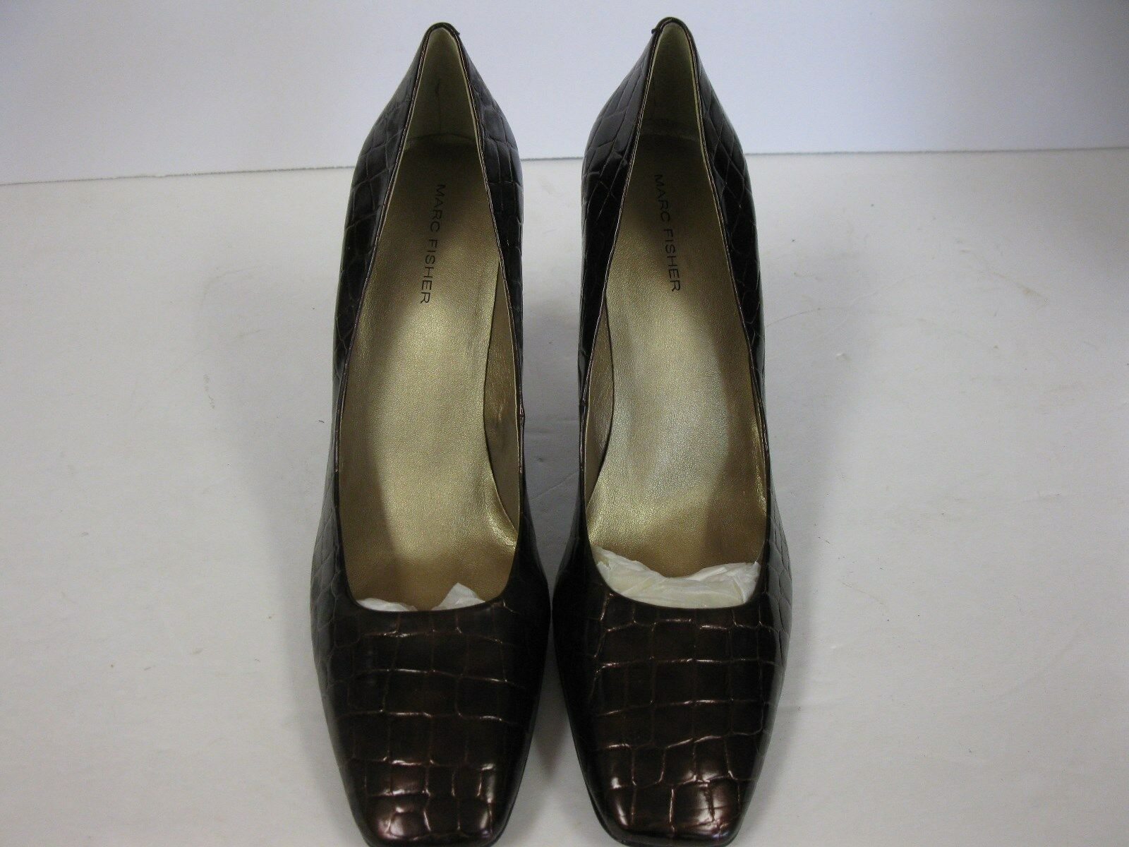 Marc Fisher, Style: Dana 2, Brown/Bronze Mock Crocodile New  Us Donna 10M