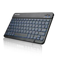 Backlit Ultra-slim (4mm) Illuminated Bluetooth Wireless Keyboard (us Keyboard)