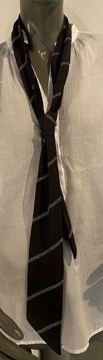 Brunello Cucinelli tie, Anthracite, Binder, cloth, Once Worn New Wool