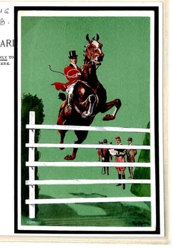 T250 Horse Racing Exhibition Sport Postcard 1908 {samwells}