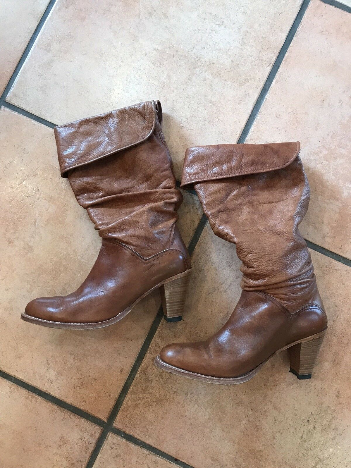 Vintage Womens Frye Leather Boots Sz 10