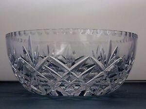 Crystal Cut Glass Trifle Bowl