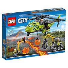 60123 LEGO CITY VULCANO ESPLORATORI VULCANO Supply elicottero età 7-12 & 330 PZ