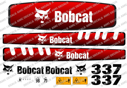 BOBCAT 337 MINI DIGGER DECAL SET