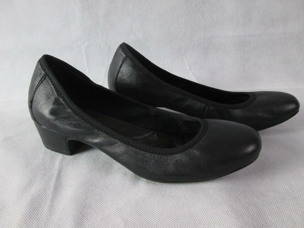 BORN noir CLASSIC LEATHER PUMPS chaussures HEELS SZ  7M EUC