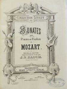 TRES-RARE-SONATES-POUR-PIANO-ET-VIOLON-DE-MOZART-MOZART-PARTITIONS-2-VOL