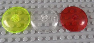 LEGO Trans Neon Orange Dish 4x4 Inverted Radar Clock Face Lot of 1 Parts Pieces