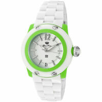 Glam Rock MISS MIAMI BEACH Polycarbonate Watch GK4008 (White/ Green)