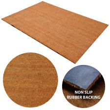 1m X 15m Natural Coconut Plain Coir Mat Doormat Matting Entrance