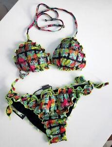 Costume Donna Trikini a fascia slip laccetto come f**k effek slip regolabile