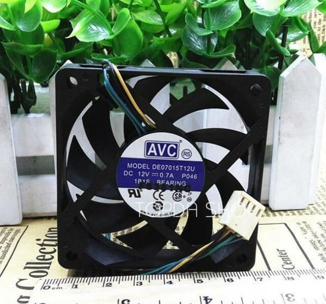 For AVC da07015t12u 7015 computer cpu 70mm case fans 7cm DC 12V 0.7A 4-pin pwm cooling fans