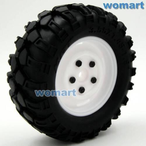 4 Stück RC 1//10 90mm 1.9 Reifen Tires Hex 12mm Wheels für RC Rock Crawler Truck
