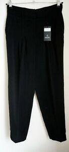 Bnwts Black High Waisted Trousers Uk 10