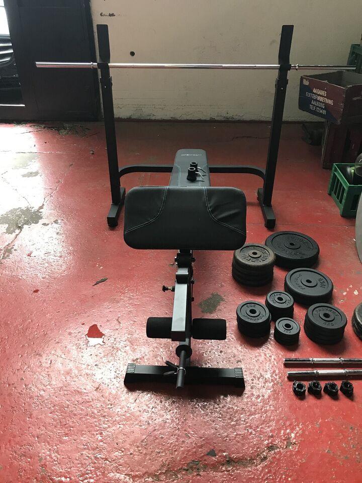 Bænkpres m. vægtsæt