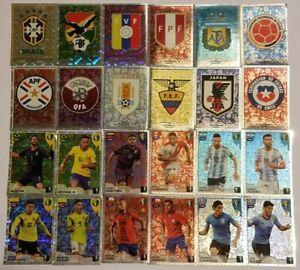 CONMEBOL-COPA-AMERICA-BRASIL-2019-FOIL-EMBLEMS-ACTION-SHINY-CARDS
