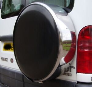 4x4 wheel cover to fit all rear spare tyre tire SILVER plain car van caravan NEW