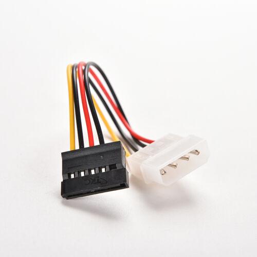 2X 4-Pin IDE Molex to 15-Pin Serial ATA SATA Hard Drive Power Adapter Cable CY