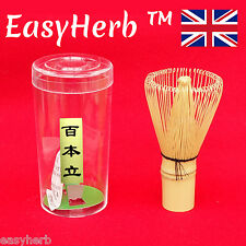 Matcha FRUSTA di bambù, polvere di tè verde, fatto a mano,... cerimoniale 80 100 120 Poli