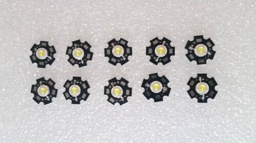 3.6V 700ma 15000K LED Chip with 20mm Star Bead Cold white 10pcs 3W 45mil 3V