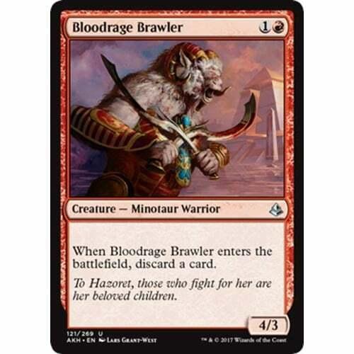 MTG Amonkhet Bloodrage Brawler NM Card x 4 Playset
