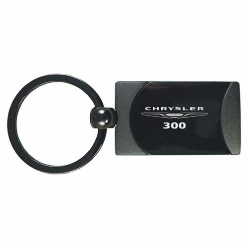 Chrysler 300 Key Ring Gunmetal Rectangular Keychain