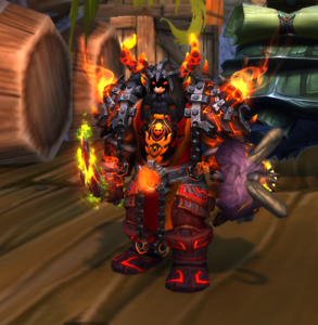 WOW-TCG-Loot-Code-Landro-Longshot-World-of-Warcraft-The-Red-Epic-Tabard-of-Flame