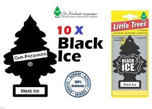 10 X BLACK ICE SCENT MAGIC TREE CAR/HOME/VAN/OFFICE AIR FRESHENERS BULK BUY