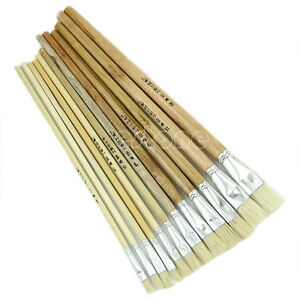 High quality 12 paint brush set for oil watercolor acrylic craft artist painting ebay - High quality exterior paint set ...