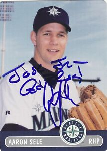 AARON SELE SEATTLE MARINERS SIGNED 2000 CARD RED SOX DODGERS ANGELS METS RANGERS