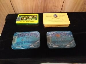 Lot-of-4-vintage-tobacco-tins-Dill-039-s-Best-Lane-039-s-Eringold-2-Edgeworth-Pipe