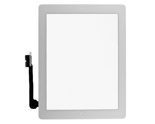 Glass Touch Screen Digitizer W// Home Button Assembly for iPad 4 4th Gen White US