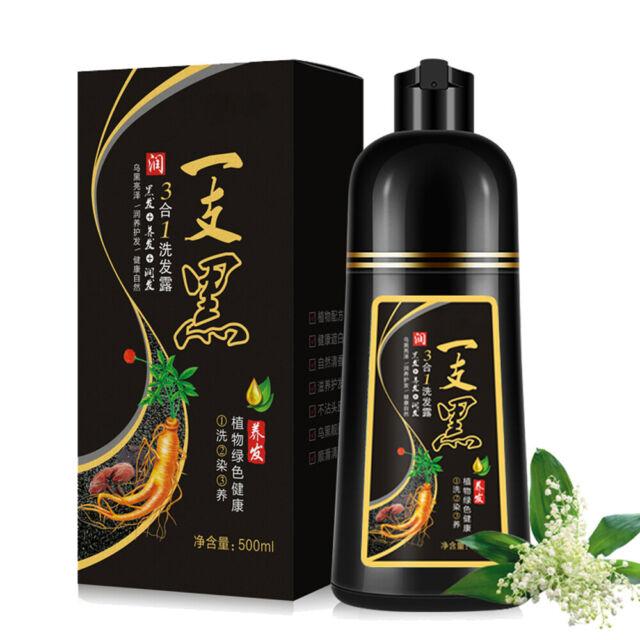 500ml Permanent Hair Color Shampoo Instant Hair Dye Black Gray White Reverse HOT