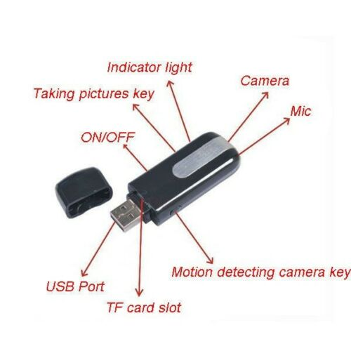 HD USB Disk DVR DV Spy recorder 4pin Spy Motion Detection Camera 1280 * 1024