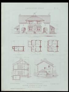 DOUAI-MONTREUIL-CHANTILLY-1925-PLANCHES-ARCHITECTURE-BRISSART-SASSUA