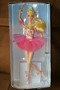 BARBIE Signature BALLET WISHES Doll + Stand NEW - Box Damaged
