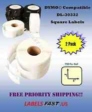 2 Rolls Postage Small Multipurpose 30332 Dymo Compatible Thermal Labels 450 Duo