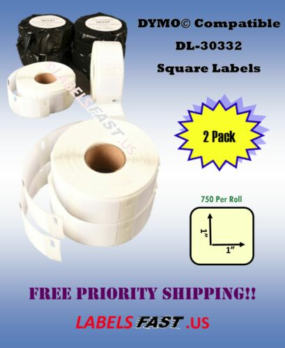 2 Rolls Postage Small Multipurpose 30332 Dymo® Compatible Thermal Labels 450 Duo
