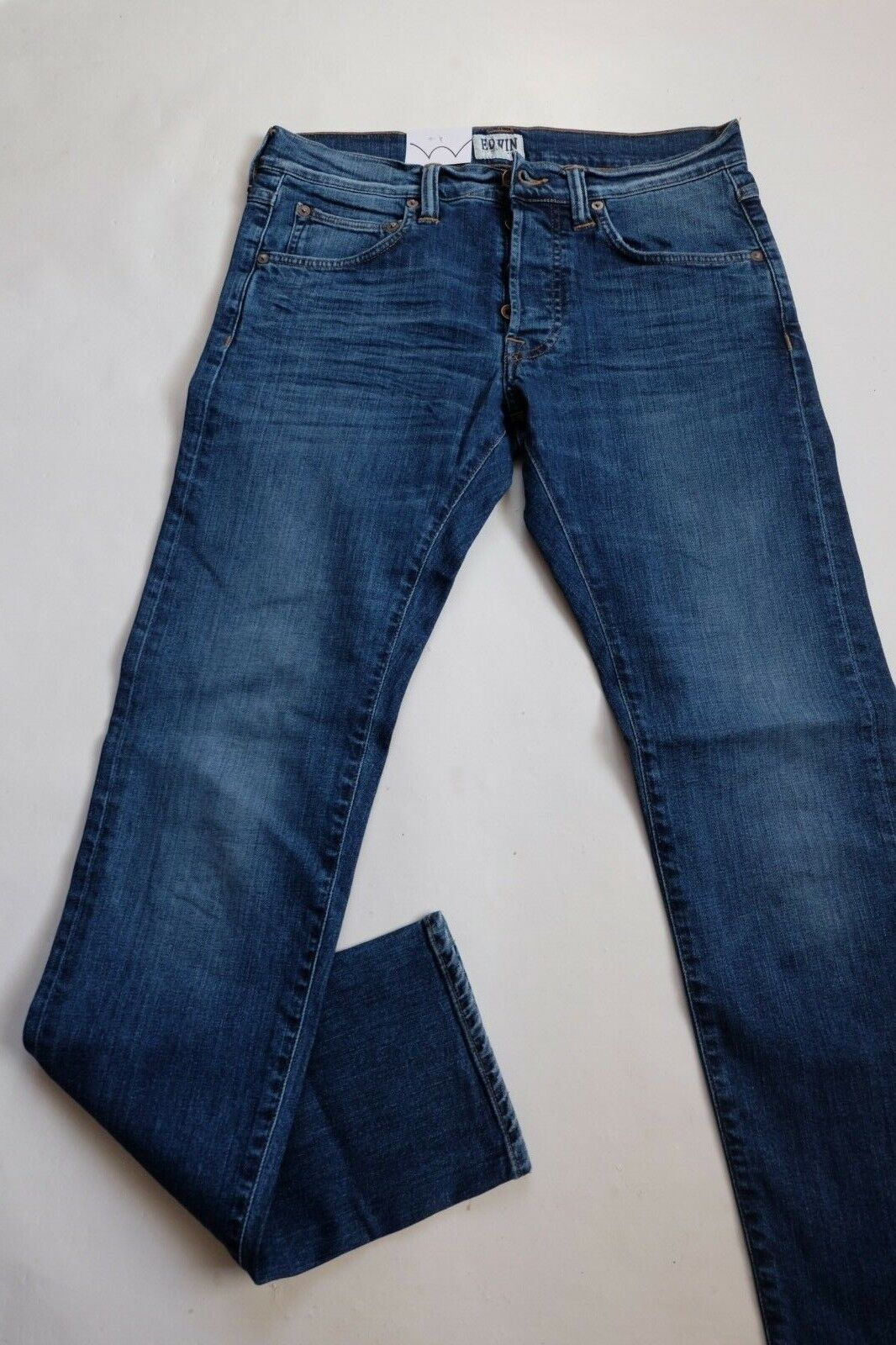 EDWIN JEANS MAN ED 55 RELAXED TAPERED (CS Night bluee Mid Trip Used) W30 L32